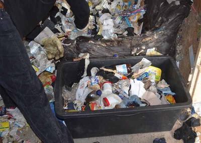 Müll Trennung Messie